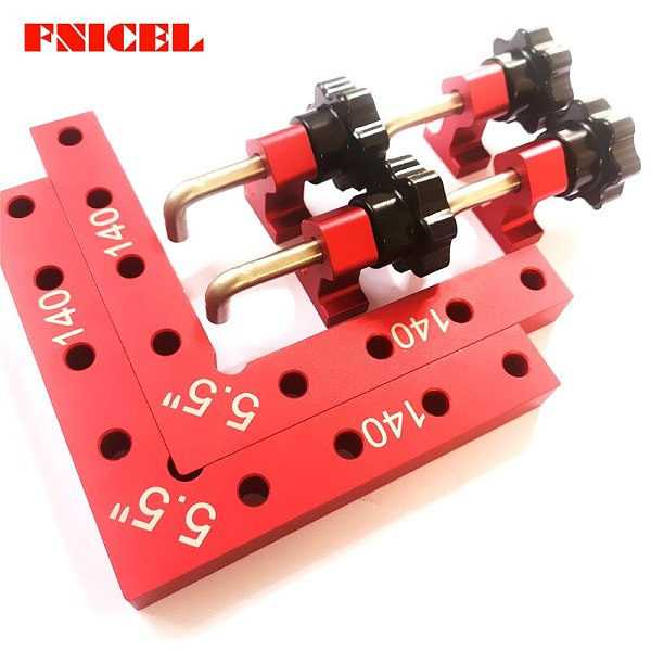 6pcs/Set 5.5  L Shape Corner Clamps Wood Metal Right Angle 90 Degree Aluminium Alloy Right Angle Clamp Quick Fixed