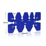 Woodworking 20-65 Degree Angle Ruler Diagonal Aluminium Alloy Angular Module Measuring Instrument Angle Scale Board