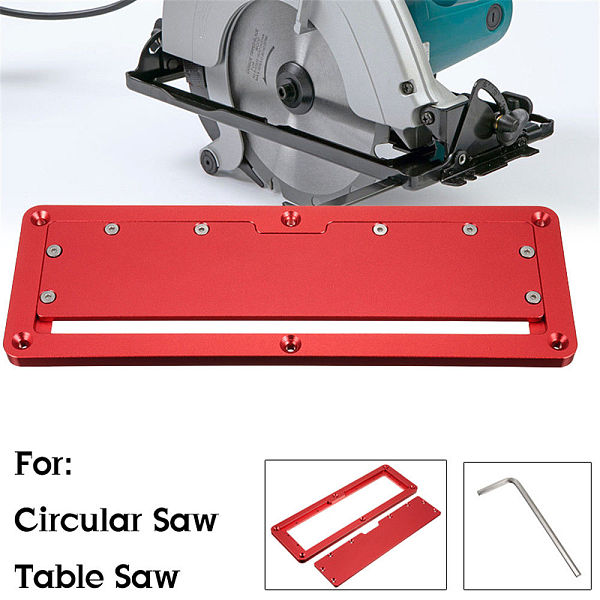 Electric Circular Saw Flip Cover Plate Aluminum Alloy Flip-Floor Table Special Embedded Cover Plate Adjustable 45-90 Degrees
