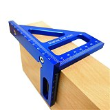 Woodworking Square Protractor Aluminum Alloy Miter Triangle Ruler High Precision Layout Measuring Tool for Engineer Carpenter