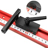 Black Aluminum Alloy 45 Type T Track Miter Track Stop for Woodworking Table Fence Stop Tool