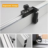 Woodworking Miter Gauge Fence Heightened Table Saw Fence and T Track Slot Sliding Brackets Track Stopper Fence Connector