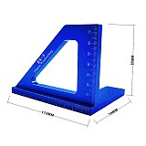 Multifunctional Angle Ruler 45 90 Degree Aluminum Alloy Accurate Woodworking Square Angle Ruler Marking Gauge Carpenter Tools