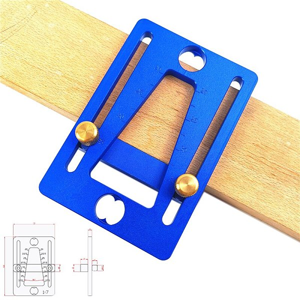 Dovetail Ruler 1:7 Dovetail Scribe Line Planner Woodworking Crossed Templates Drawing Line woodworking tools