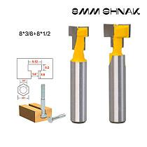 2 Pc 8mm Shank T-Slot Cutter Router Bit for 1/4  Hex Bolt
