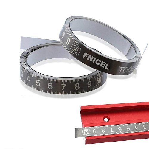1-3m Stainless Steel Miter Track Tape Measure Self Adhesive Metric Scale Ruler Rust-Proof Durable And Wear-Resistan Ruler