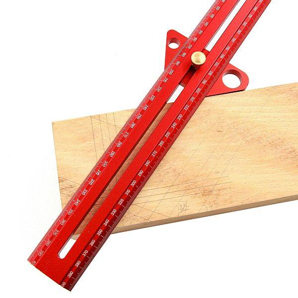 Luxury Angle Scribe Multifunction Woodworking Scribing Line Ruler Carpenter Marking Gauge Aluminum Alloy Measuring Tools