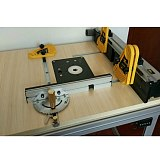WoodWorking Miter Gauge Table Saw/Router Miter Gauge Sawing Assembly Ruler with T-tracks Stop and Sliding Brackets Fence