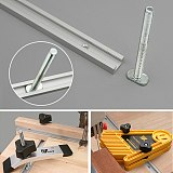 300-800MM Woodworking Chute Rail T-track T-slot Miter Track Jig T Screw Fixture Slot 19x9.5mm Table Saw Router Table DIY Tools