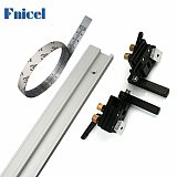 T Track Aluminium Alloy T-tracks Slot Miter Track and Miter Track Stop Scale Tape Table Saw Workbench Woodworking DIY Tools