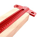 Luxury Aluminum Alloy Hole Ruler 1mm High Precision Line Scribing Ruler Woodworking T-shaped Crossed Line Marking Gauge