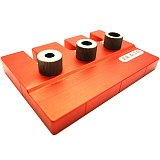 Aluminum Pocket Hole Drill Guide Dowel Jig + Positioning Plate Woodworking Joinery Tools Set 90x80x78mm for Carpentry