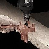 41pcs/set Drill Guide Kit Dowel Bit Set Jig 6mm 8mm 10mm E,L,T Joints Alignment Pins Doweling Jig Hole Saw Tools