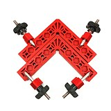 2pc 5inch Woodworking 90 Degrees L-Shaped Auxiliary Fixture Right Angle Clamps Splicing Board Positioning Corner Ruler
