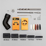 Pocket Hole Jig Kit System Woodworking Inclined Hole Locator Puncher Locator w/ Step Drill Bit & Accessories