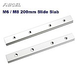 NEW M6 M8 200mm Slide Slab For T-slot T-track Miter Track Fixture Slot Woodworking Tool