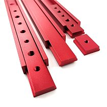 Aluminum M6/M8 T track Slot Slider Sliding Bar For 30/45 Type T-Track Jigs Screw Slot Fastener Woodworking Tool Red