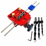 3 in 1 Woodworking Doweling Jig Kit With Positioning Clip Drilling Guide Puncher Locator Joinery System Kit Carpentry Tools