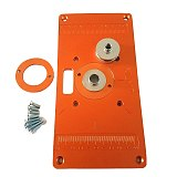 Aluminum Router Table Insert Plate W/ Bushing Ring Screw Trimming Machine Flip Plate for Woodworking Benches Trimmer