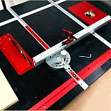 Aluminum Angle Miter Gauge Sawing Assembly Ruler Woodworking Tool 400mm Alluminium Fence with Metric Scale for Table Saw Router