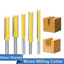 Flush Trim Router Bit Long 50-76mm Tenon Cutter 8mm Shank Template Pattern Bit Carbide Milling Cutter Wood Router Bits