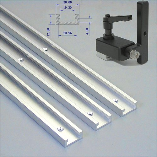 1 Set Miter Track Stop And 300-800mm T Slot Aluminium Alloy For Woodworking Tool DIY Manual