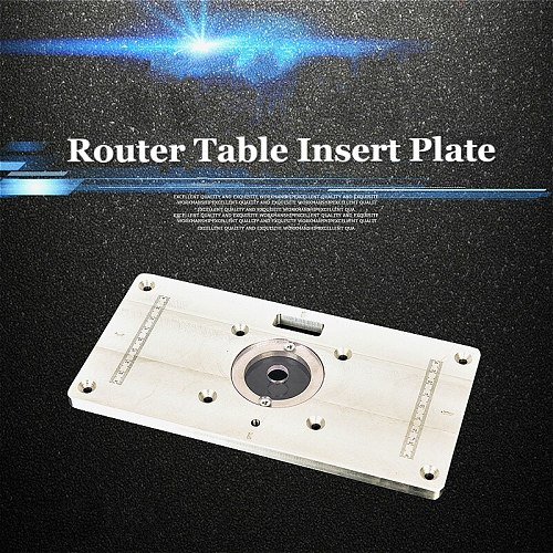 1pc High Quality Router Table Insert Plate For Woodworking Benches Engrving Machine trimming machine with flip-chip workbench