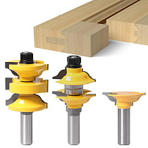 3pcs 8mm 12mm Shank 1/2  Shank Entry Interior Tenon Door Router Bit Set Ogee Matched R&S Router Bits Carving for Wood