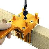 Woodworking Dowel Jig Drill Guide Positioning Tools Wood Drilling Hole Saw Kit w/ 3Pcs Metal Dowel Pins 6 8 10mm Drill Bits