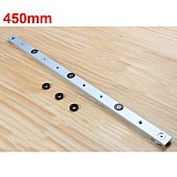 300-850mm High Strength Miter Bar Slider Table Saw Miter Gauge Rod Woodworking Tool Durable In Use Was Made of Aluminium Alloy