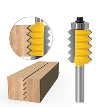 8mm Shank Raised panel V joint Bits Finger Joint Glue Milling Cutter for Wood Tenon Woodwork Cone Tenon Milling Tenoning Machine