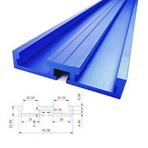 600/800mm Aluminum Alloy T-Track Woodworking T-slot Miter Track 70mm Height Chute with Scale/Miter Track Stop/ G Clamp