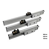 450mm/600mm/800mm Miter Gauge Aluminium Fence with Flip Stop Aluminium Profile 70mm height T-tracks for Woodworking DIY Tool
