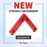 1/2Pcs L Shape Corner Clamp Wood Metal Right Angle 90 Degree Weld Welding Red Aluminium Alloy Body