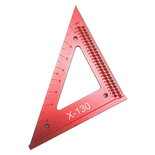 Woodworking Triangle Line Ruler Hole Scribing Gauge Precision Triangle Scribe Ruler Wood Working Crossed-out Measuring Tool