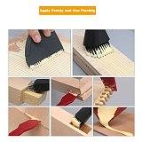 4Pc/set Woodworking Silicone Brush Tool Kit Washfree Glue Brush Soft Glue Brush Flat Scraper Glue Tray Wood Gluing Brushing Tool