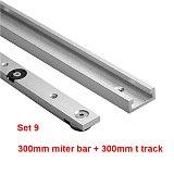 1Set Aluminium Alloy T-tracks Slot Miter Track and Miter Bar Slider Table Saw Miter Gauge Rod Woodworking Tools Workbench DIY