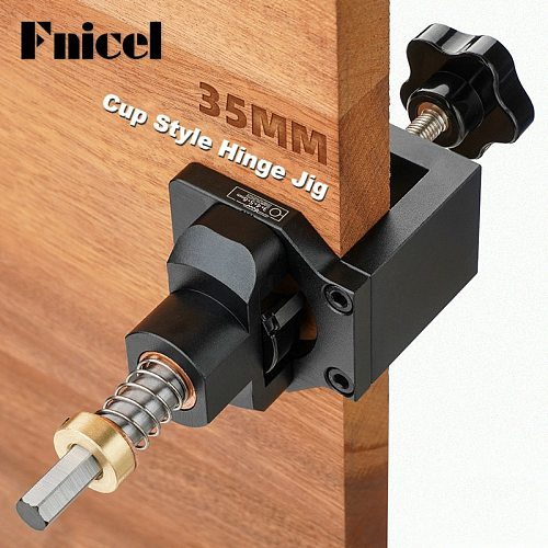 Woodworking Hinge Hole Drill Guide Locator Wood Drilling Dowel Jig Alloy Cup Style Hinge Jig 35mm Door Cabinet Hole Opener