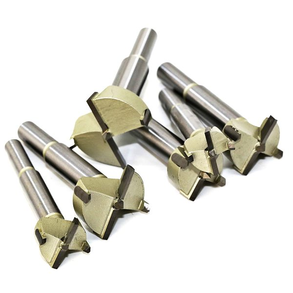 15mm-60mm Forstner Tips Woodworking Tools Hole Saw Cutter Hinge Boring Drill Bits Round Shank Tungsten Carbide Cutter