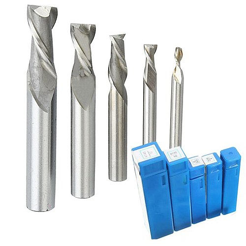 1pc 2 Flute Straight Shank End Mill CNC Bits Milling Tool Cutter 4/6/8/10/12mm Metal Drilling