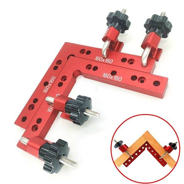 Woodworking Adjustable Corner Clamping Ruler Aluminium Right Angle Clamps G Clamp L-Shaped Auxiliary Fixture Positioner Clip