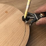 2 In 1 Line Circular Scribe Parallel Drawing Line Scriber Ruler Woodworking Tools Multi-function Marking Tool