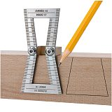 Woodworking Ruler Stainless Steel Dovetail Gauge Woodworking Tool Dovetail Wood Marking Connection Ruler