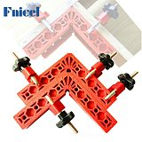 2Pcs 90 Degree Right Angle Clamps L-shaped Auxiliary Fixture Positioning Panel Fixing Clip Woodworking Tool Plastic Corner Clamp