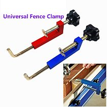 Universal Fence Clamp Aluminium Fixing Fixture G Clamp for Wood Working Benches Saw Machinery Wood Router
