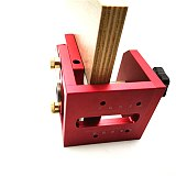 New Pocket Hole Drill Guide Dowel Jig Woodworking Joinery Aluminum w/ Positioning Plate For Carpentry Tool Kit
