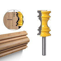 1pc Large Elaborate Chair Rail Molding Router Bit - 8mmShank Line knife Tenon Cutter for Woodworking Tools
