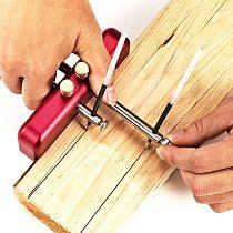 Aluminum Alloy Marking Gauge Handheld Portable Woodworking Decoration Scriber DIY Hand Scribing Tool with 2pcs Marking Rod