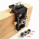 Concealed Flat Head Cross Pocket Hole Jig Hole Puncher Locator Doweling Jig For DIY Furniture Connecting Carpentry Tools