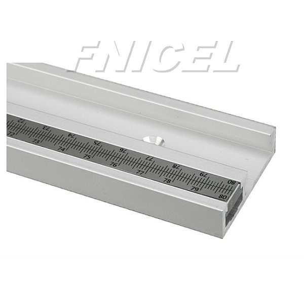Aluminum Alloy T-Track Woodworking T-slot Miter Track with Scale for Router Table Bandsaws Woodworking Tools